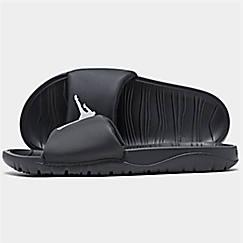 조던 브레이크 슬라이드 샌들 슬리퍼 Nike Mens Jordan Break Slide Sandals,Black/White