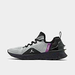 나이키 Nike Mens Jordan React Havoc Training Shoes,Black/Silver/Wolf Grey/Hyperviolet