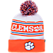 Front view of Zephyr Clemson Tigers College Arctic Knit Hat in Team Colors