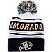 Front view of Zephyr Colorado Buffaloes College Arctic Knit Hat in Team Colors
