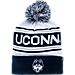 Front view of Zephyr UConn Huskies College Arctic Knit Hat in Team Colors