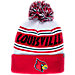 Front view of Zephyr Louisville Cardinals College Arctic Knit Hat in Team Colors