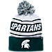 Front view of Zephyr Michigan State Spartans College Arctic Knit Hat in Team Colors