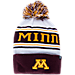 Front view of Zephyr Minnesota Golden Gophers College Arctic Knit Hat in Team Colors