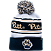 Front view of Zephyr Pitt Panthers College Arctic Knit Hat in Team Colors