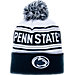 Front view of Zephyr Penn State Nittany Lions College Arctic Knit Hat in Team Colors
