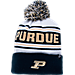 Front view of Zephyr Purdue Boilermakers College Arctic Knit Hat in Team Colors