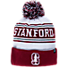 Front view of Zephyr Stanford Cardinal College Arctic Knit Hat in Team Colors