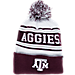 Front view of Zephyr Texas A & M Aggies College Arctic Knit Hat in Team Colors