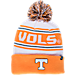 Front view of Zephyr Tennessee Volunteers College Arctic Knit Hat in Team Colors