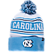 Front view of Zephyr North Carolina Tar Heels College Arctic Knit Hat in Team Colors