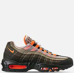 나이키 맨 Mens Nike Air Max 95 OG Casual Shoes,String/Total Orange/Neutral Olive