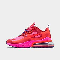 Womens 나이키 Nike Air Max 270 React Casual Shoes,Mystic Red/Bright Crimson/Pink Blast