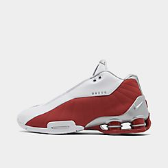 나이키 맨 Mens Nike Shox BB4 Basketball Shoes,White/Metallic Silver/Varsity Red