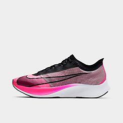 나이키 맨 Mens Nike Zoom Fly 3 Running Shoes,Pink Blast/Atmosphere Grey/White/Black