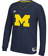 Men's adidas Michigan Wolverines College Long Sleeve Shooter Shirt