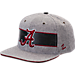 Front view of Zephyr Alabama Crimson Tide College Avenue Snapback Hat in Team Colors