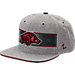 Front view of Zephyr Arkansas Razorbacks College Avenue Snapback Hat in Team Colors