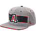 Front view of Zephyr Arizona Wildcats College Avenue Snapback Hat in Team Colors