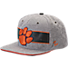 Front view of Zephyr Clemson Tigers College Avenue Snapback Hat in Team Colors