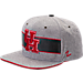 Front view of Zephyr Houston Cougars College Avenue Snapback Hat in Team Colors