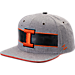 Front view of Zephyr Illinois Fighting Illini College Avenue Snapback Hat in Team Colors