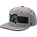 Front view of Zephyr Michigan State Spartans College Avenue Snapback Hat in Team Colors