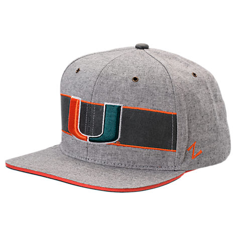Zephyr Miami Hurricanes College Avenue Snapback Hat