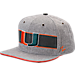 Front view of Zephyr Miami Hurricanes College Avenue Snapback Hat in Team Colors