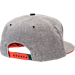 Back view of Zephyr Miami Hurricanes College Avenue Snapback Hat in Team Colors