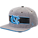 Front view of Zephyr UNC Tar Heels College Avenue Snapback Hat in Team Colors