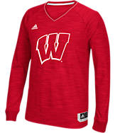 Men's adidas Wisconsin Badgers College Long Sleeve Shooter Shirt