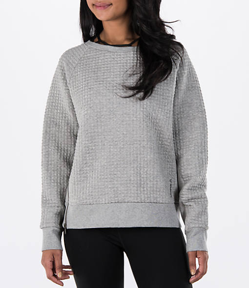 Women's Reebok Elements Winter Pack Quilted Crew Sweatshirt