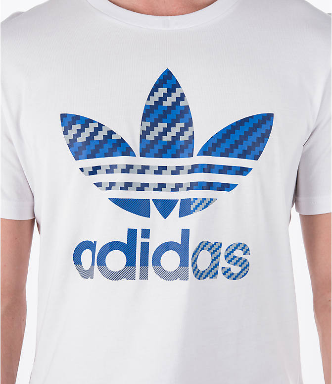 Detail 1 view of Men's adidas Originals Trefoil T-Shirt in White
