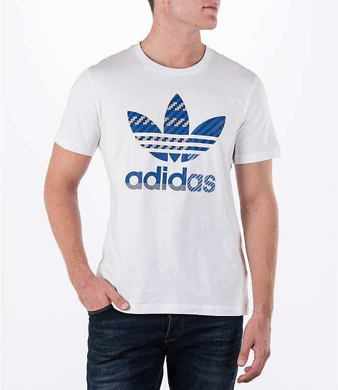Detail 2 view of Men's adidas Originals Trefoil T-Shirt in White
