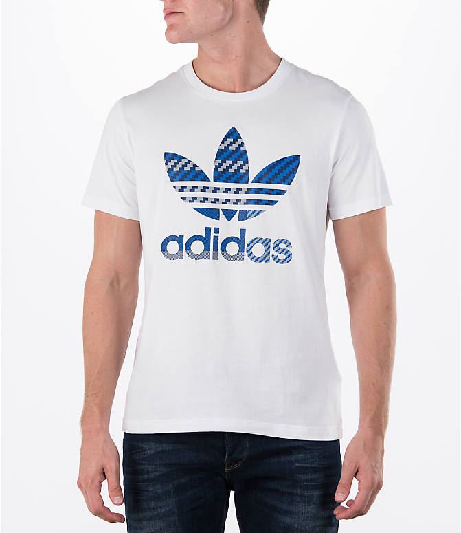 Front view of Men's adidas Originals Trefoil T-Shirt in White