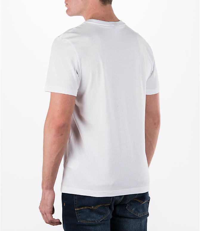Back Left view of Men's adidas Originals Trefoil T-Shirt in White