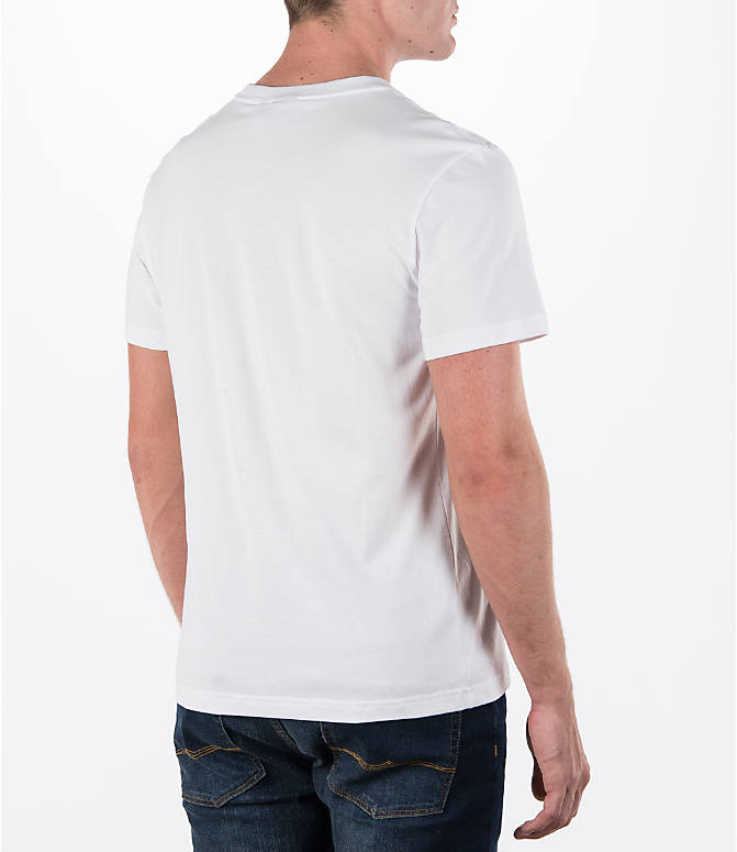 Back Right view of Men's adidas Originals Trefoil T-Shirt in White