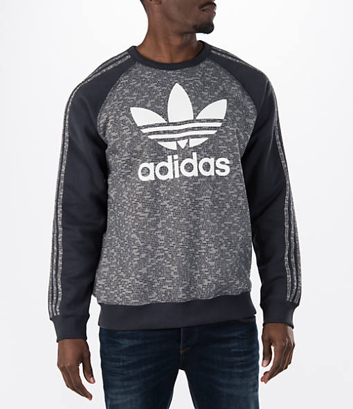 Men's adidas Originals Essentials Allover Print Crew Sweatshirt
