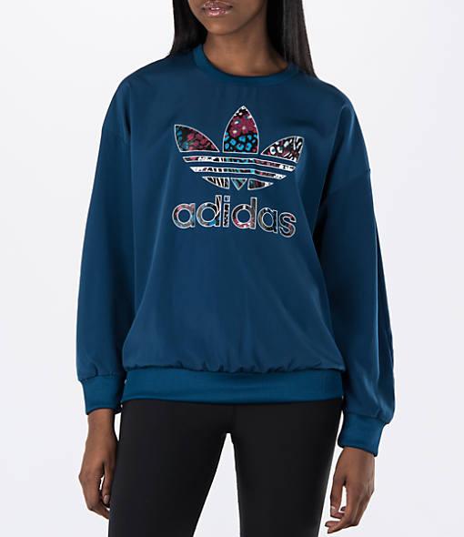 Women's adidas Originals Trefoil Logo Crew Sweatshirt