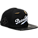 Front view of Pro Standard Brooklyn Dodgers MLB Jersey Script Snapback Hat in Black