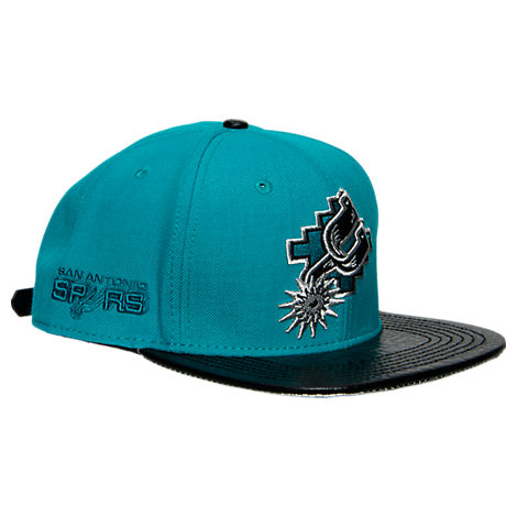 Pro Standard San Antonio Spurs Teal Retro Leather Strapback Hat