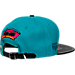 Alternate view of Pro Standard San Antonio Spurs Teal Retro Leather Strapback Hat in Team Colors