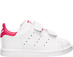 Girls' Toddler adidas Originals Stan Smith Velcro Casual Shoes
