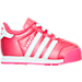 Right view of Girls' Toddler adidas Samoa Casual Shoes in PNK