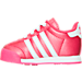 Left view of Girls' Toddler adidas Samoa Casual Shoes in PNK