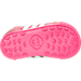 Bottom view of Girls' Toddler adidas Samoa Casual Shoes in PNK