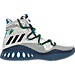Right view of Men's adidas Crazy Explosive Primeknit Basketball Shoes in Footwear White/Collegiate Navy