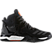 Right view of Men's adidas D Rose 7 Basketball Shoes in Core Black/Utility Black/Orange