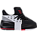 Right view of Boys' Toddler adidas Dame 3 Basketball Shoes in Black/White/Red - Away